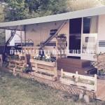 Comment décorer la terrasse de votre maison mobile avec des palettes