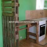 Meuble pour la cuisine et séparateur en palettes