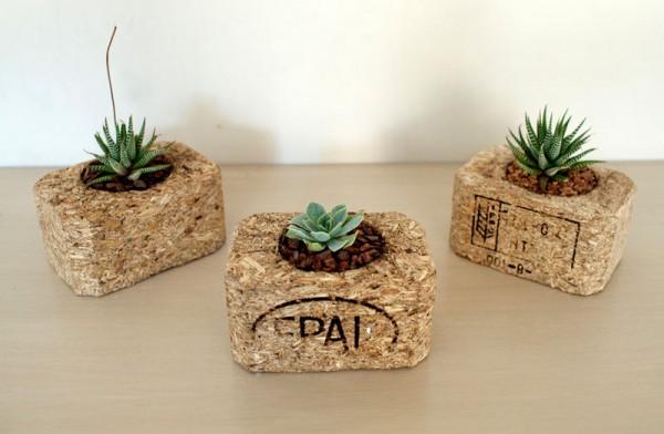 Petits jardinières intérieurs réalisés avec palettes 4