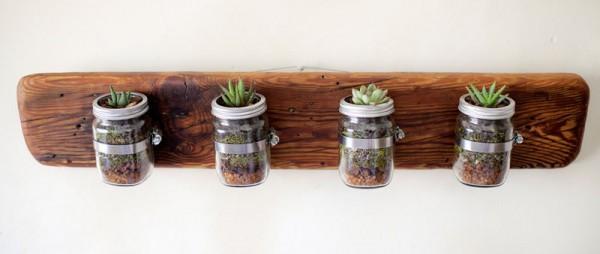 Petits jardinières intérieurs réalisés avec palettes 7