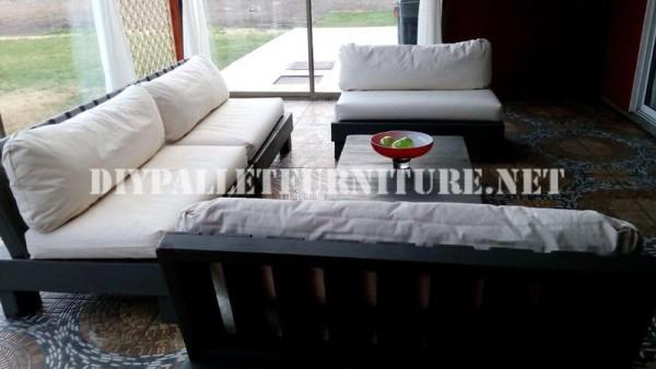 Set de meubles avec des palettes pour la terrasse 5