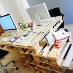 Bureau super cool avec des palettes