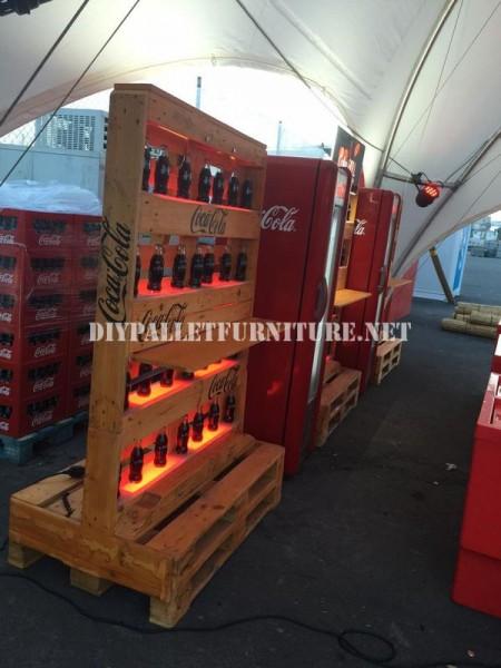 Bar espace conçu avec des palettes par Coca-Cola 4