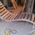 Chaise longue avec des palettes
