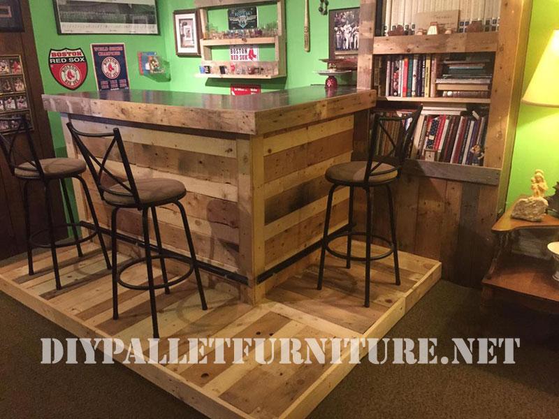 Coin meubl avec palettesmeuble en palette meuble en palette - Arredamento esterno bancali ...