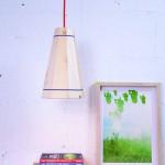 Lampe suspension avec la palette planche