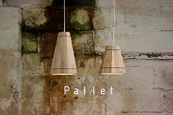 Lampe suspension avec la palette planche 2