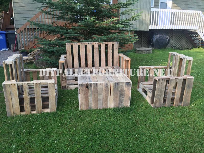 Meubles palette pour le jardinmeuble en palette meuble for Muebles de jardin de palet