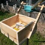 Palettes box d'organiser des pinces à linge