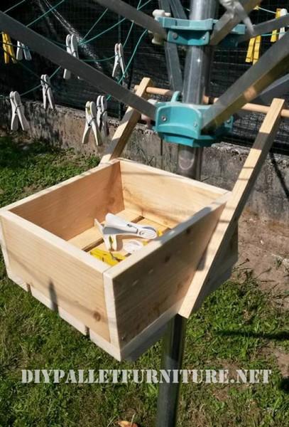 Palettes box d'organiser des pinces à linge 1