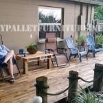 Parfait porche fait avec palettes
