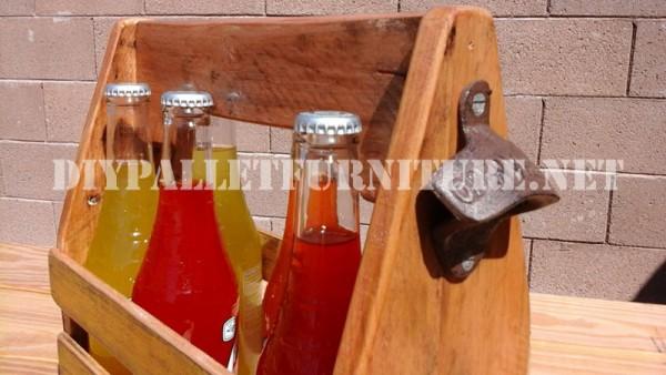 Porte-bouteille avec des palettes 3