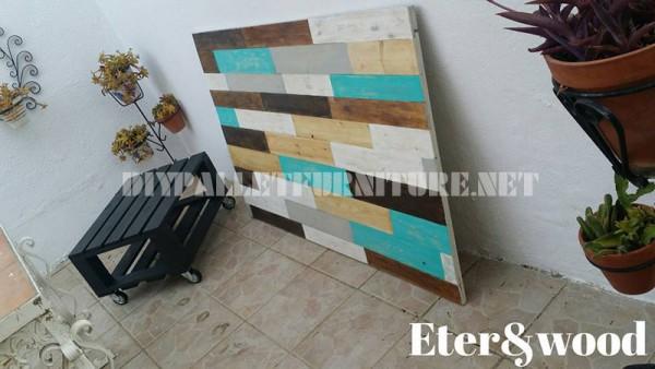 Table et tête de lit de palettes 1