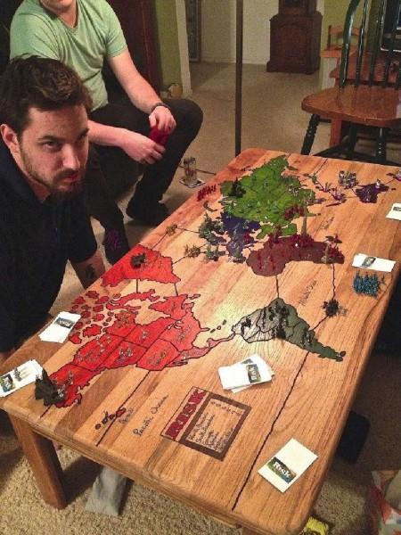 Table pour jouer Risk 1