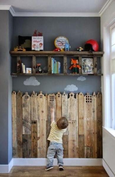 Bois décoratif de couverture pour les chambres d'enfants 2