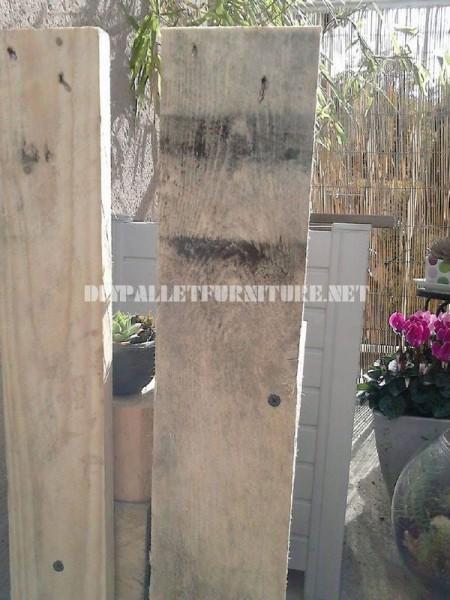 Jardinières avec des blocs de bois 4