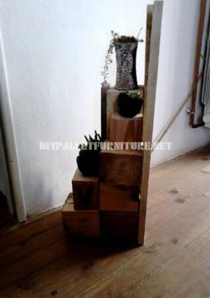 Jardinières avec des blocs de bois 5