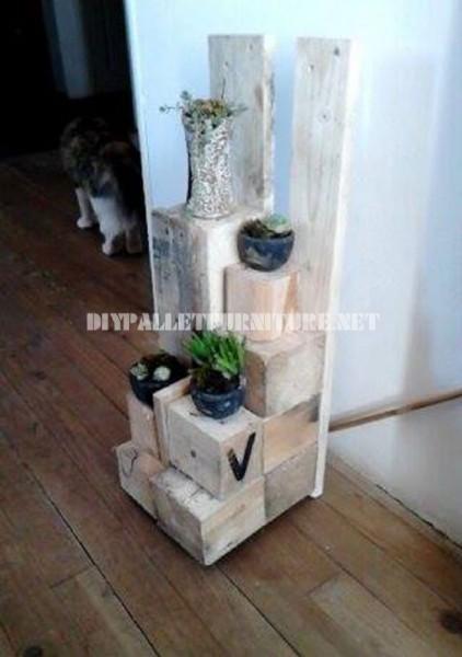 Jardinières avec des blocs de bois 6
