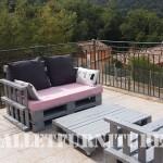 Les canapés de palettes de Marie pour la terrasse