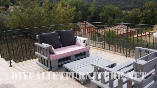 Les canapés de palettes de Marie pour la terrasse 2
