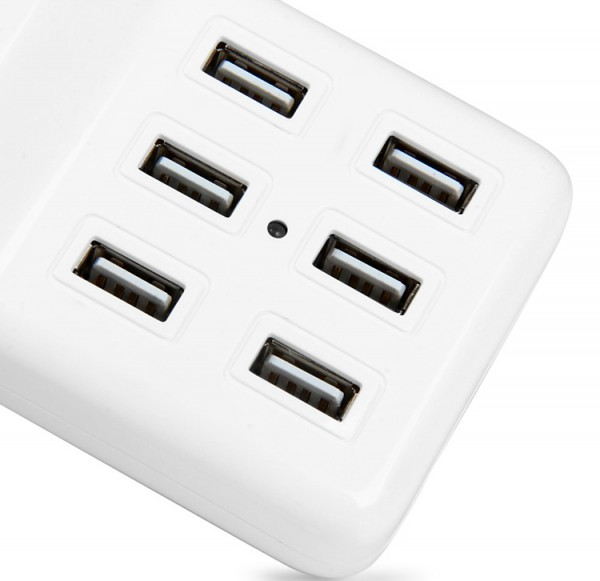 Review Multi - use 6 USB Ports 60W Charger 4