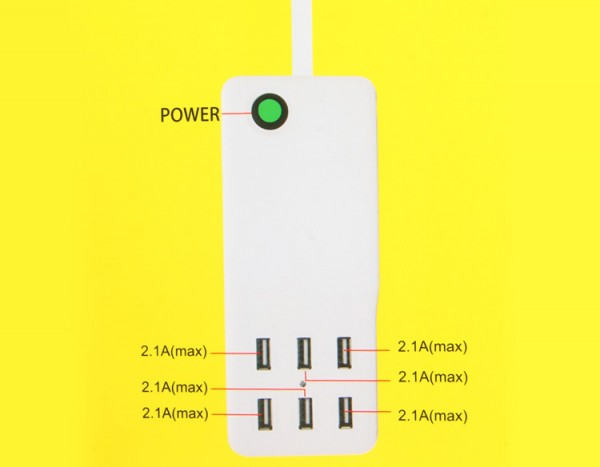 Review Multi - use 6 USB Ports 60W Charger 5