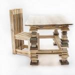 Bureau et chaise design avec des palettes