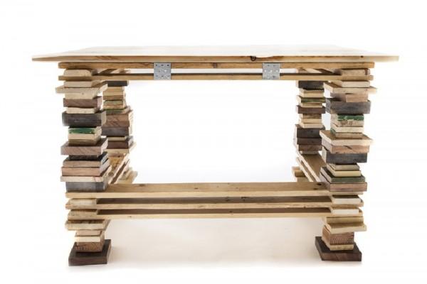 Bureau et chaise design avec des palettes 2