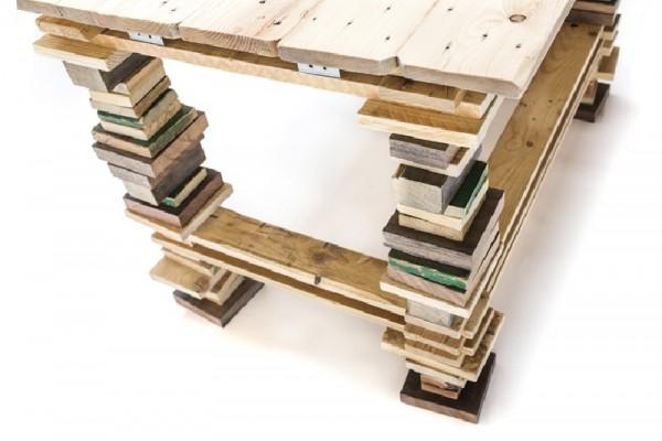 Bureau et chaise design avec des palettes 3
