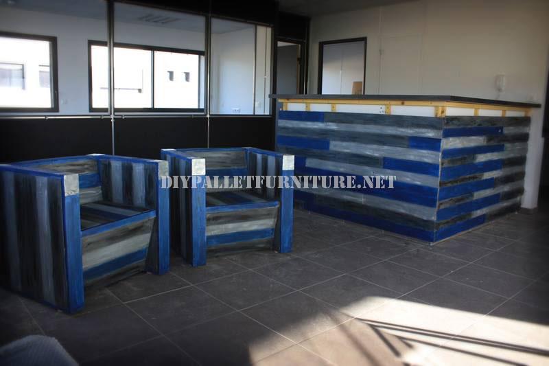Butacas y barra de bar con palets reciclados 3meuble en for Butacas para barras en madera