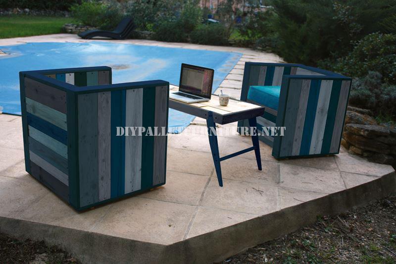butacas y barra de bar con palets reciclados 5meuble en palette meuble en palette. Black Bedroom Furniture Sets. Home Design Ideas
