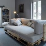 Canapé chaise-longue avec des palettes