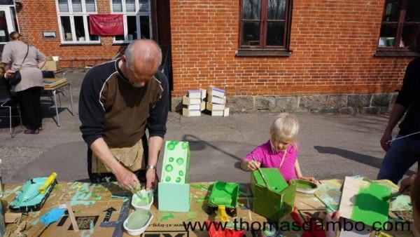 Happy city birds, un projet d'école pour les enfants avec des palettes 4
