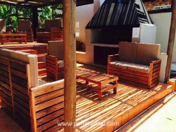 Porche incroyable meublé avec des palettes 2