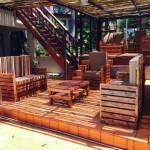 Porche incroyable meublé avec des palettes
