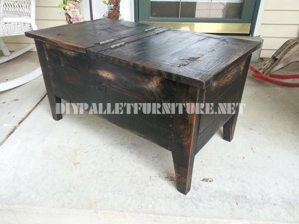 Table et coffre faite avec palettes 1