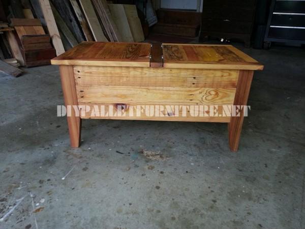 Table et coffre faite avec palettes 2