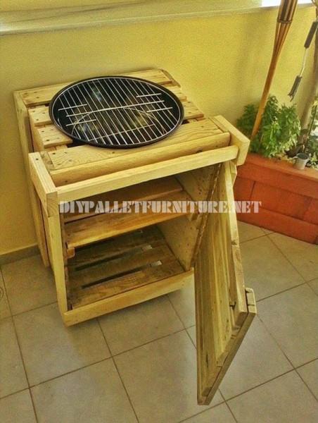 Barbecue construit avec palettes 2