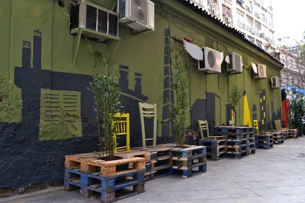 La revitalisation urbaine avec des palettes 3