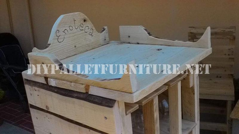 meuble pour le vin fait avec des palettes 4meuble en palette meuble en palette. Black Bedroom Furniture Sets. Home Design Ideas