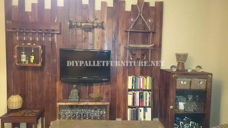 Meubles pour le salon fait avec palettes 2meuble en for Les meubles pour salon