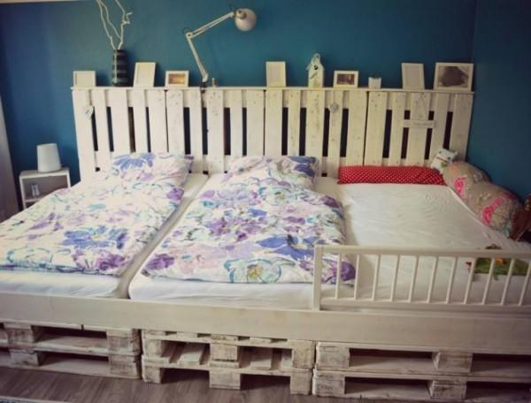 Triple lit fait avec des palettes 1