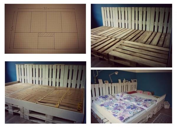 Triple lit fait avec des palettes 2