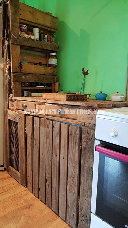 La cuisine de carolmeuble en palette meuble en palette for Meuble de cuisine en palette