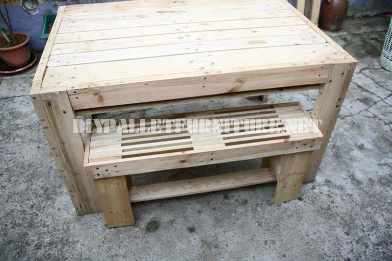 Etape par tape comment faire une table fantastique avec - Construction de meuble en palette ...