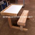 Bureau en palettes planches