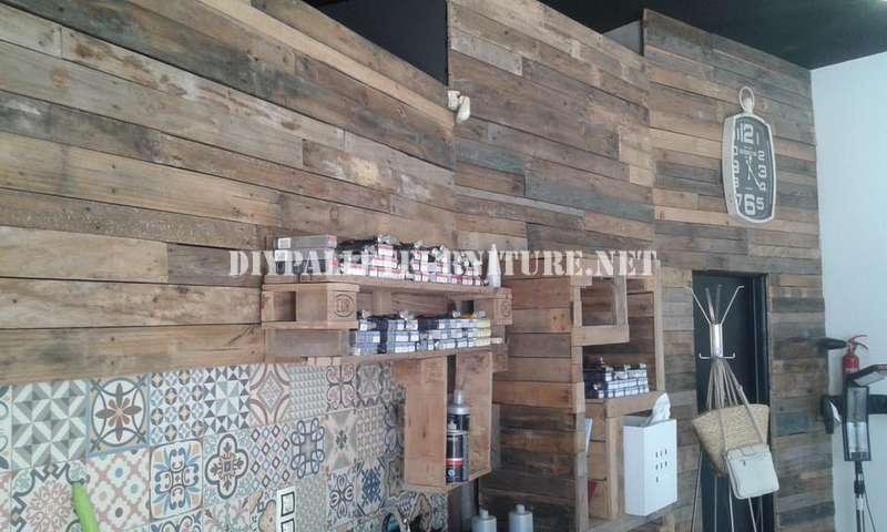 Coiffure décoré à l'aide de palettes planches 1