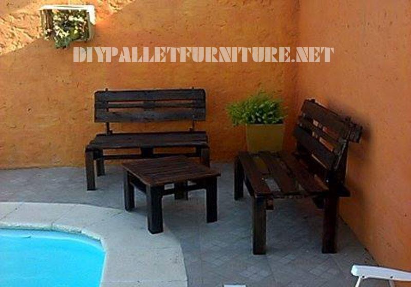 Meubles de patio avec des palettes 4