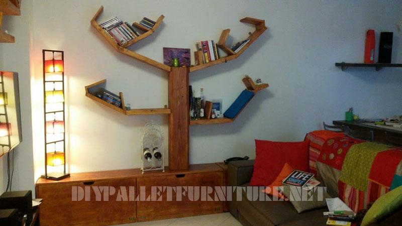Étagères et des meubles pour la salle de séjour avec la forme de l'arbre 1