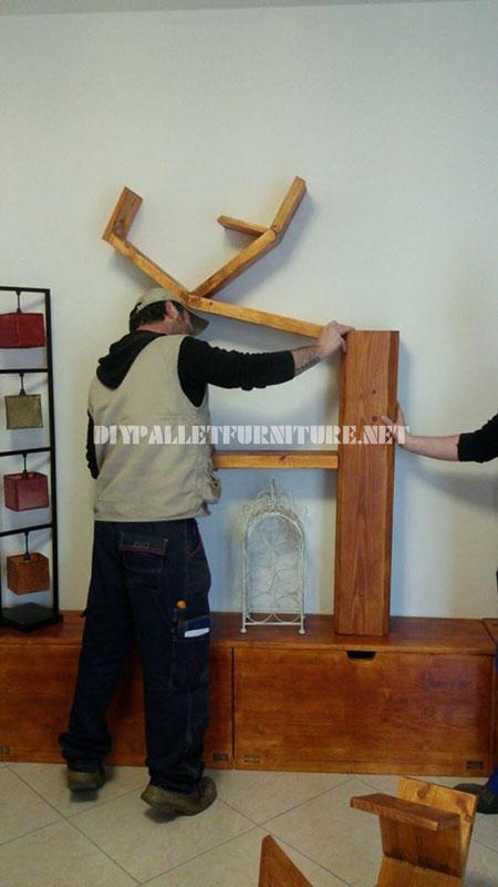 Étagères et des meubles pour la salle de séjour avec la forme de l'arbre 5